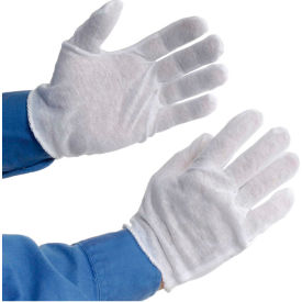 97-500H PIP 97-500H Light Weight Inspection Gloves, Hemmed, Cotton, Mens, 1-Dozen