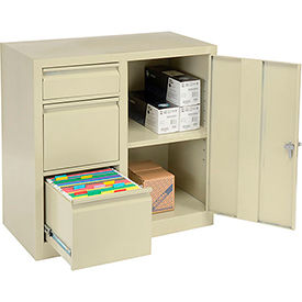 3800 Storage 2-In-1 Cabinet 2 File/1 Utility Drawers and 1 adj. Shelf