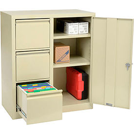 3801 Storage 2-In-1 Cabinet 3 File Drawers and 2 adj. Shelves