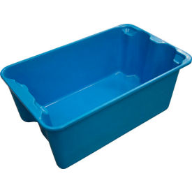 "7804085268 Molded Fiberglass Toteline Nest and Stack Tote 780408 - 20-1/2"" x 12-7/8"" x 8"", Pkg Qty 10, Blue"