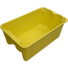"7804085126 Molded Fiberglass Toteline Nest and Stack Tote 780408 - 20-1/2"" x 12-7/8"" x 8"",Yellow"