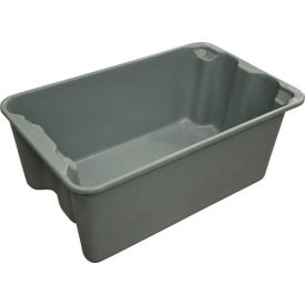 "7804085172 Molded Fiberglass Toteline Nest and Stack Tote 780408 - 20-1/2"" x 12-7/8"" x 8"", Pkg Qty 10, Gray"