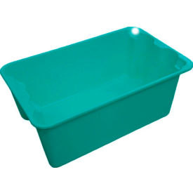 "7804085170 Molded Fiberglass Toteline Nest and Stack Tote 780408 - 20-1/2"" x 12-7/8"" x 8"", Pkg Qty 10, Green"