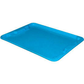 "Molded Fiberglass Toteline Nest and Stack Lid 780718 - 27-1/2"" x 20"", Pkg Qty 5, Blue"