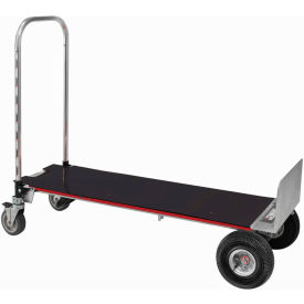 XLSP Magliner; Gemini XL XLSP 2-in-1 Convertible Hand Truck with Deck - Pneumatic Wheels