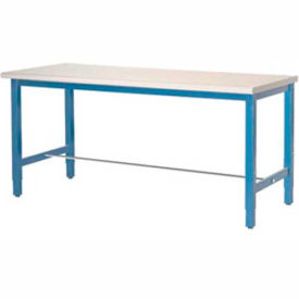 "607942 72""W x 30""D Packaging Workbench - ESD Laminate Square Edge - Blue"