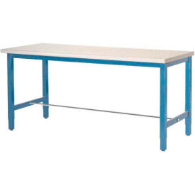"607948 72""W x 30""D Packaging Workbench - ESD Laminate Safety Edge  - Blue"