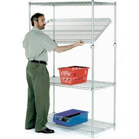 14488AC Quick Adjust Wire Shelving 48x14x86