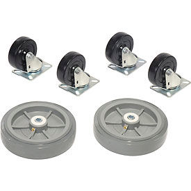 330cp47 Replacement Caster Kit for Global Wood & Steel Deck Narrow Aisle Platform Trucks