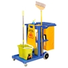 CA1700 Global; Janitor Cart Blue with 25 Gallon Vinyl Bag