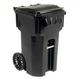 6956060F-B41 Otto Mobile Trash Container, 65 Gallon Black - 6956060F-B41