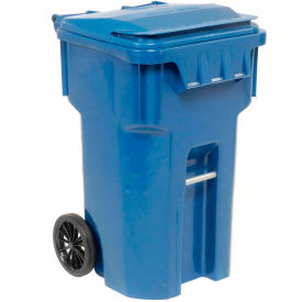 6954444F-B42 Otto Mobile Trash Container, 65 Gallon Blue - 6954444F-B42