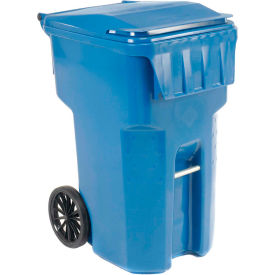 9954444F-B43 Otto Mobile Trash Container, 95 Gallon Blue - 9954444F-B43