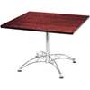"KLT36SQ-MHGY OFM 36"" Multi-Purpose Square Table with Chrome-Plated Steel Base, Mahogany"