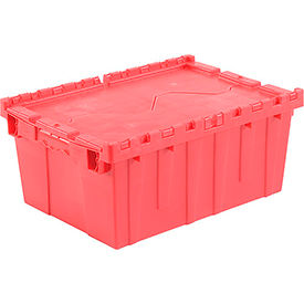 DC2115-09RED Plastic Storage Totes - Shipping Hinged Lid  DC2115-09 21-7/8 x 15-1/4 x 9-11/16 Red
