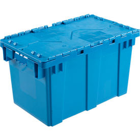 DC2213-12BLUE Plastic Shipping Container - Hinged Lid Storage DC2213-12 22-3/8 x 13 x 13 Blue