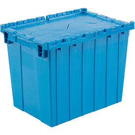 DC-2115-17BLUE Plastic Shipping Container - Hinged Lid Storage DC2115-17 21-7/8 x 15-1/4 x 17-1/4 Blue