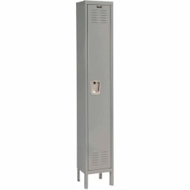 U1226-1A-HG Hallowell U1226-1A-HG Premium Locker Single Tier 12x12x60 1 Door Assembled - Dark Gray