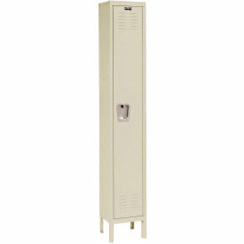 U1228-1A-PT Hallowell U1228-1A-PT Premium Locker Single Tier 12x12x72 - 1 Door Assembled - Tan