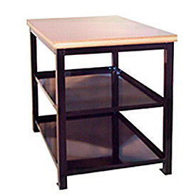 S212A60-BK 18 X 24 X 24 Double Shelf Shop Stand - Plastic - Black