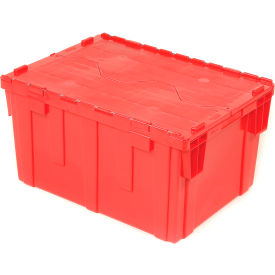 DC2820-15RED Plastic Storage Totes - Shipping Hinged Lid DC2820-15 28-1/8 x 20-3/4 x 15-5/8 Red