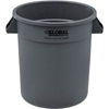 1001-GY Global Industrial; Plastic Trash Container, Garbage Can - 10 Gallon Gray