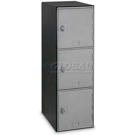 UV25182SVH Modular Box Locker 11-1/2 X 18 X 38 Three Silver Door With Hasp Lock