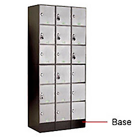 "UV25953 6"" Black Steel Base For Modular Locker"