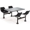 "1004-BLK OFM Cluster Seating Table with 24"" Stainless Steel Top and Black Seats"