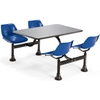 "1004-NAVY OFM Model 1004 Cluster Seating Table with 24"" Stainless Steel Top and Navy Seats"