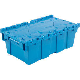 DC2012-07BBLUE Plastic Shipping Container - Hinged Lid Storage DC2012-07 19-5/8 x 11-7/8 x 7 Blue