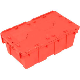 DC2012-07BRED Plastic Storage Totes - Shipping Hinged Lid  DC2012-07 19-5/8 x 11-7/8 x 7 Red