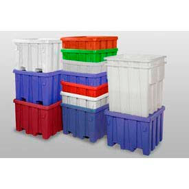 P291RED MODRoto Bulk Container With Lid P291 - 44x44x32-1/2, Red