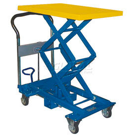 A-350W Southworth Dandy Lift A-350W Mobile Scissor Lift Table 770 Lb. Capacity