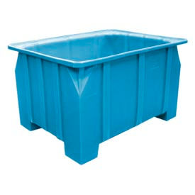 Bayhead DP-28-BLUE Stacking Pallet Container 48x36x28 1000lb Cap. Blue