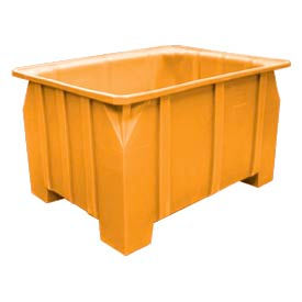Bayhead DP-28-YELLOW Stacking Pallet Container 48x36x28 1000lb Cap. Yellow