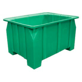 Bayhead DP-28-GREEN Stacking Pallet Container 48x36x28 1000lb Cap. Green