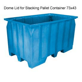 Bayhead AT-LID-BLUE Dome Lid For Stacking Pallet Container 73x43 Blue