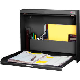 WW-101-T25 Datum Wallwrite Fold-up Desk-Non-Locking-BLACK