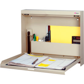 WW-101-SC T15 Datum Wallwrite Fold-up Desk-Non-Locking / BONE / WHITE