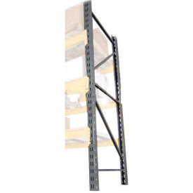 "LU18360096 Husky Rack & Wire LU18360096 Double Slotted Pallet Rack Upright Frame 96""H x 36""D"
