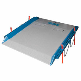 20C7248 Bluff; 20C7248 Steel Red Pin Heavy Duty Dock Board 72 x 48 20,000 Lb. Cap.