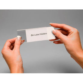 "443432 Tri-Dex Label Holder 1-3/4"" x 4"" for Stacking Bin Price per Pack of 25"
