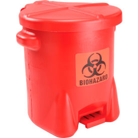 947BIO Eagle 14 Gallon Safety Biohazardous Waste Can, Red - 947BIO