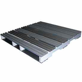 5000125 Rackable Extruded Plastic Pallet 48x48 4-Way Entry 2000 Lb Fork Capacity
