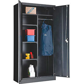 "269878BK Global; Combination Cabinet Easy Assembly 36""W x 18""D x 72""H Black"