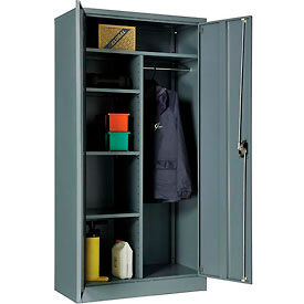 "269878GY Global; Combination Cabinet Easy Assembly 36""W x 18""D x 72""H Gray"