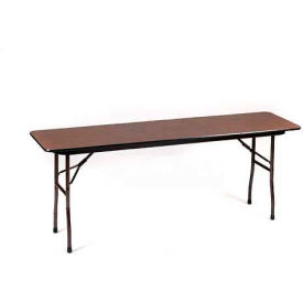 "CF1896M-01 Correll Folding Seminar Table - Melamine - 18"" x 96"", Walnut"