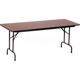"CF2448M-01 Correll Folding Table - Melamine - 24"" x 48"", Walnut"