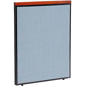 "277525BL Deluxe Office Partition Panel, 36-1/4""W x 43-1/2""H, Blue"
